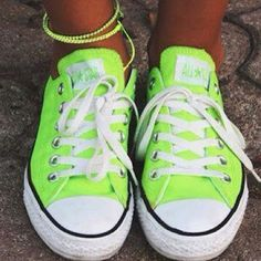 Neon converse with a tan<3