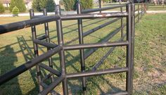 Custom Metal Pipe Fence with Walk Through