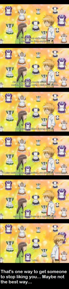 Kaichou wa Maid-Sama, Usui scaring off another girl haha