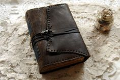 The Writer  Dark Brown Leather Journal by bibliographica on Etsy