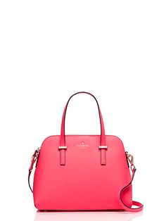 "Kate Spade Cedar Street Maise $298 (9.0""h x 11.2""w x 4.9""d) : Meet maise: the go-anywhere, carry-everything bag that's quickly become our most beloved style (ever!). fitted with an adjustable, removable cross-body strap and durable crosshatched leather in a spectrum of sunny hues, this sleek style seamlessly transitions from work to weekend & back again thanks to its classic clean-lined shape and easy elegance."