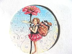 Woodland Fairy Stickers or Envelope Seals Set of 22 Vintage Inspired