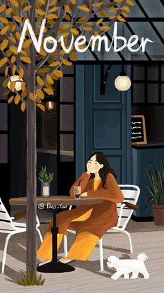 Graphic by Paco Yao Art Painting, Illustrations And Posters, Ilustration Art, Illustration, Painting, Cartoon Wallpaper, Cute Drawings, Art Wallpaper, Aesthetic Art