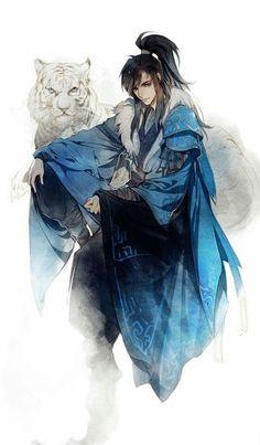 微博 // Niu & White Tiger maybe? Chica Anime Manga, Manga Boy, Croquis Poses, Fantasy Characters, Anime Characters, Character Concept, Character Art, Dibujos Anime Chibi, Fantasy Art Men