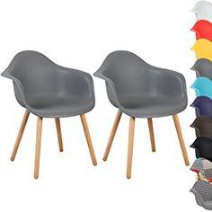 Schön WOLTU® BH37gr 2 Esszimmerstühle 2er Set Esszimmerstuhl Mit Lehne Design  Stuhl Küchenstuhl Holz Grau