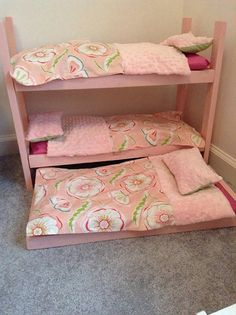 "Custom Order For Shanna Doll Bedding For Bunk Beds Sale For 18"" American Girl…"
