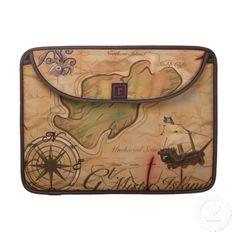 Treasure Island Map Sleeves For MacBooks.  Vectorwebstore.com