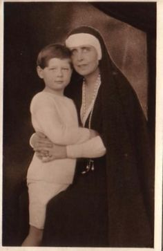 Romanian Queen Marie with her grandson future King of Romania