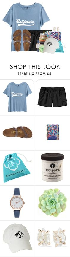 """Name one item on your bucket list"" by auburnlady ❤ liked on Polyvore featuring Patagonia, Birkenstock, Lilly Pulitzer, Kendra Scott, Olivia Burton, WALL and Melissa Joy Manning"
