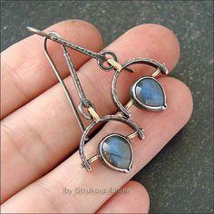 Silver earrings / Серьги ручной работы. Серьги с лабрадорами RES. Елена Струкова. Ярмарка Мастеров. Серьги с лабрадором, серебряные серьги