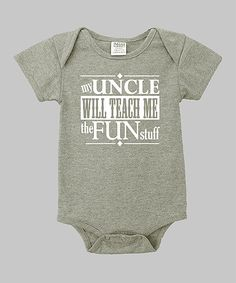 This Heather Gray 'My Uncle' Bodysuit - Infant by Small Plum is perfect! #zulilyfinds