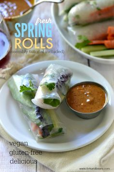 Fresh Vegan Spring Rolls (with a Peanut Dipping Sauce) - Fork & Beans