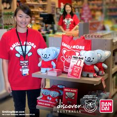 Smile More happy time in Australia...Pick up a Smiling Bear koala plush now! More info here: http://www.smilingbear.com/blog/authentic-australian-souvenirs-sydney  #DiscoverAustralia #Bandai #Plush #Plushie #smilingbear #smilemore #koala #koalabear #bear #smile #smiling #happy #cute #kawaii #australia #aussie #sydney #beach #manga #art #design #illustration #cartoon #characterdesign #fun #GIF #otaku