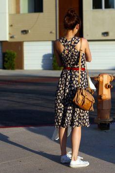 Znalezione obrazy dla zapytania dress converse outfit