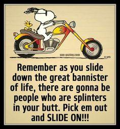7/30 Snoopy Life Quote.
