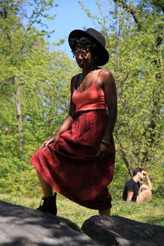 """The awkward beaut""    Central Park, NYC    Photographer: Calvin Nonato    Model: Paris (@ahmosehotep)"