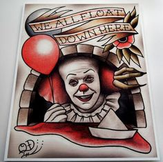 """Next tattoo? Pennywise the clown from """"It."""""""