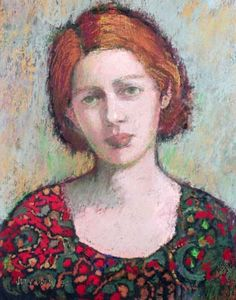 The Woman Gallery: Judy Drew - Born 1950 Encaustic Painting, Painting & Drawing, Portraits Pastel, Pastel Drawing, Chalk Pastels, Australian Artists, Linocut Prints, Art Plastique, Figure Painting
