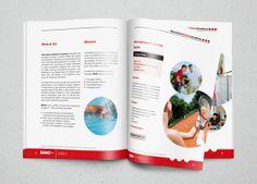 Brochure para una academia de deportistas.