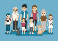 Family Character Vector EPS. Download here: https://graphicriver.net/item/family-character/13469192?ref=ksioks