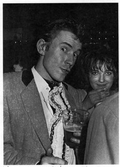 Johnny Rotten and Viv Albertine, The Roxy, ca 1977.