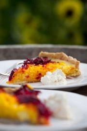 Beetroot tart with horseradish cream | Sarah Raven's Kitchen and Garden