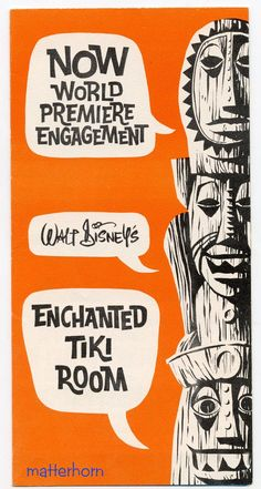 Walt Disney's Enchanted Tiki Room advertisment art.
