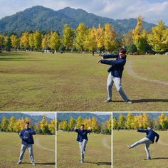 Practicing a bit of #kungfu #taichi on #autumn #afternoon     #notsmooth #notflexible