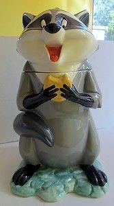 Disney Treasure Craft Pocahontas Meeko Cookie Jar | eBay