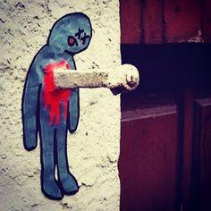 Interesting one by theodorus_art #spaceinvader #unas (o) http://ift.tt/1LjW5Jw touch.  Anyone know the artist? #streetart #urbanart #modernart #contemporaryart #cartoon #illustration #banksy #mrbrainwash #faile #shepardfairey #obeygiant #invader  #dolk #dface #alecmonopoly #daleast #kaws