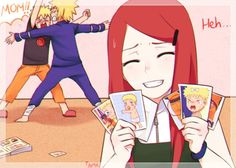 AWWWW look at the one where narutos crying and he has a bow in his hair so kawaii x3
