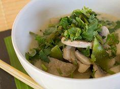 Grünes Curry mit Huhn