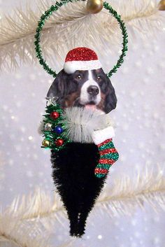 Bernese+Mountain+Dog++Christmas+Ornament+Feather+Tree+by+TreePets,+$12.00