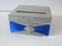Small Bridal Shower Card Box Baby Shower by LaceyClaireDesigns, $53.00