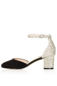 JUNIPER Glitter Mid Heels - #deartopshop, business in the front, party in the back applies to heals too!