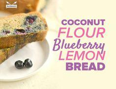 Coconut Flour Blueberry Lemon Bread