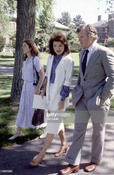 News Photo : Jackie Kennedy, Caroline Kennedy, and Ted Kennedy