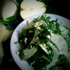 Baby Arugula, Fennel and Pear Salad with Cider vinaigrette and Gorgonzola Cheese