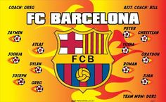 Barcelona-FC-154477  digitally printed vinyl soccer sports team banner. Made in the USA and shipped fast by BannersUSA. www.bannersusa.com