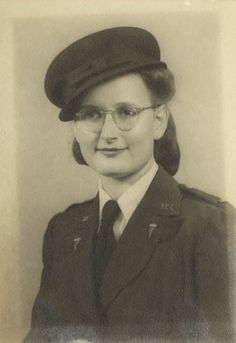 Portrait of Army Nurse Alice C. Boehret, circa 1944. Alice C. Boehret of Philadelphia, Pennsylvania, served in the Army Nurse Corps from 1942 until 1946 ~