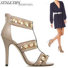 We're loving the combination of navy and gold. #ChicOnFleek #ShoeDazzle