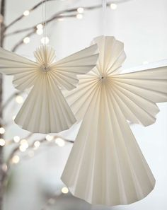 Tindra Origami Hanging Paper Angels