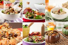 15 gluten free salads... some yummy looking dressings going on here...