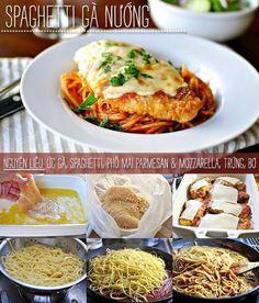 Cách làm spaghetti với gà nướng phô mai cực ngon