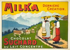 old fashioned chocolate ad! Switzerland