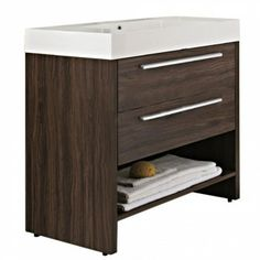 Luanda Furniture Pack, Vanity Unit and Mirrored Cabinet, Walnut Vanity Units, The Unit, Flooring, Cabinet, Table, Bathrooms, House, Furniture, Home Decor