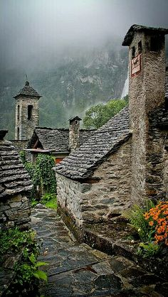 It's a beautiful world * Rainy days in the Alps, Foroglio / Switzerland (by korzhkov) Places Around The World, Oh The Places You'll Go, Places To Travel, Places To Visit, Around The Worlds, Travel Destinations, Beautiful World, Beautiful Places, Beautiful Pictures