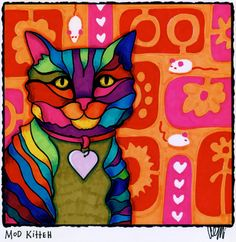 Mod Kitteh by AEMgallery on Etsy