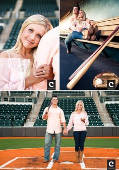 Baseball engagement session - For April Baseball Engagement Photos, Baseball Couples, Baseball Girlfriend, Engagement Couple, Engagement Pictures, Wedding Engagement, Engagement Session, Baseball Pictures, Baseball Gifts