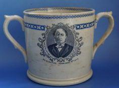 Antique Political 1874 General Election Commemorative Mug Ashton Under Lyne Concorde, Badge, Politics, Mugs, Antiques, Souvenir, Antiquities, Antique, Tumblers